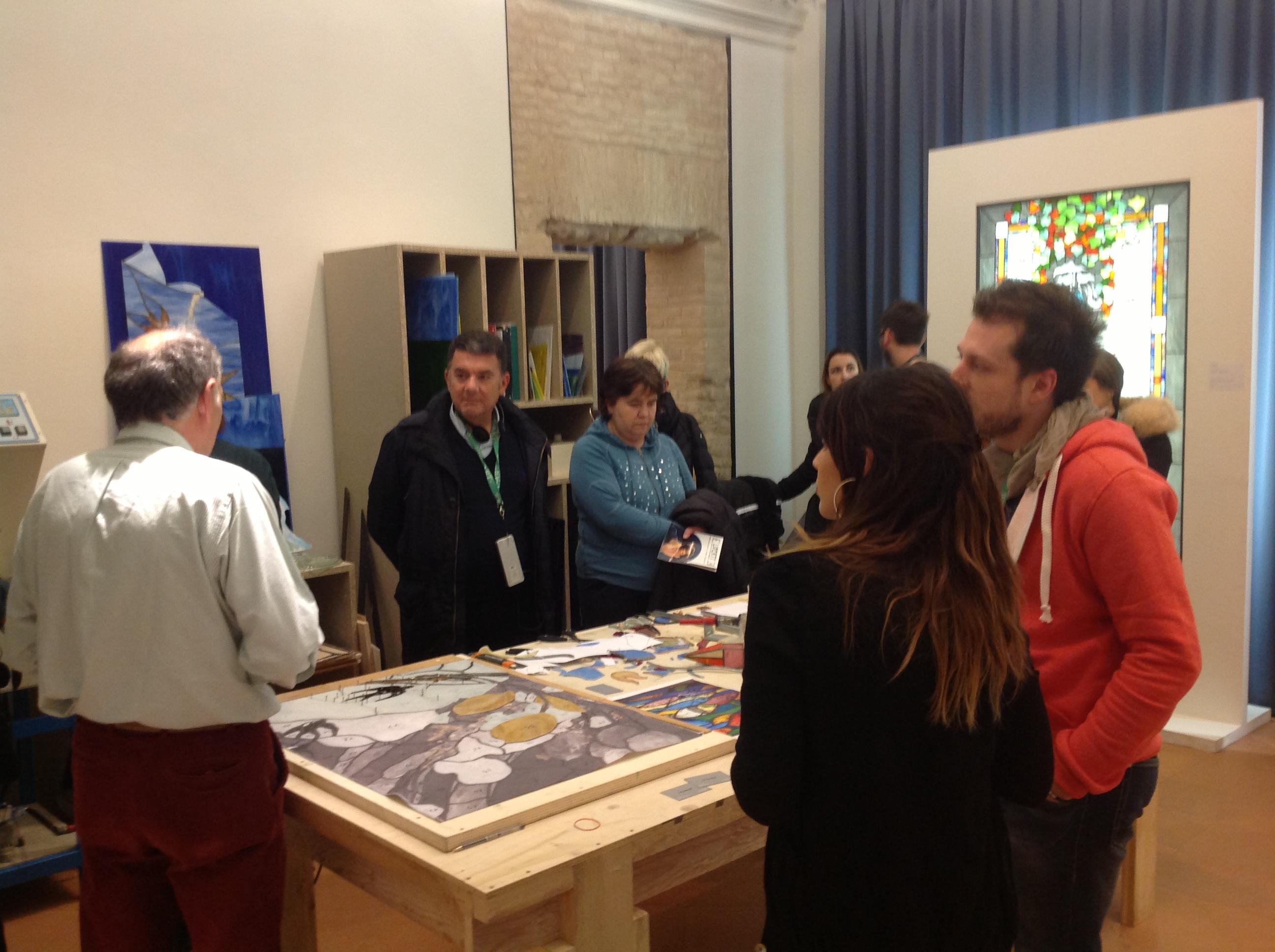 Laboratorio alla mostra sul Liberty ai musei del San Domenico